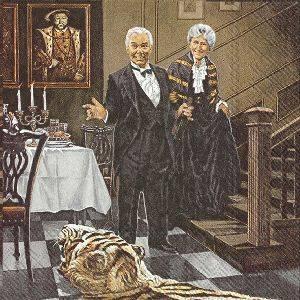 Bilde av Servietter kaffe Grevinnen og hovmesteren